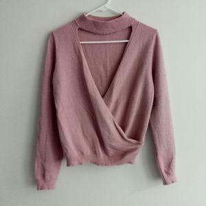 Super cute choker neck sweater